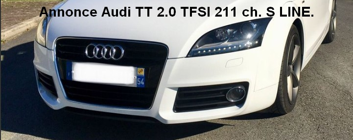 Audi TT 2.0L. TFSI  211CV  S-Line Quattro Sans_t12