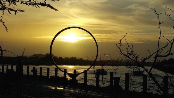 Couché du soleil à Nantes Captur20
