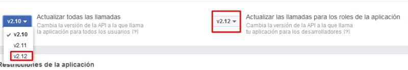 Actualizacion de la API de Facebook Screen13