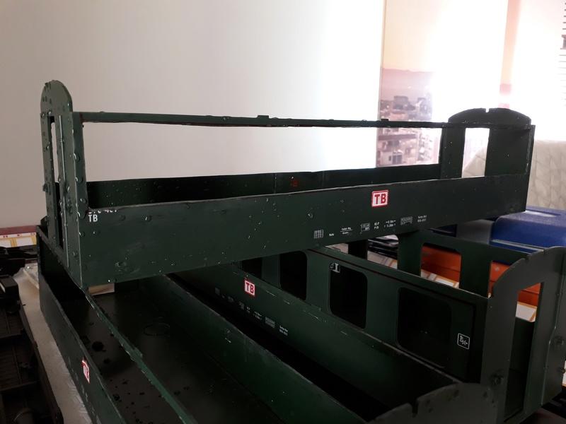 Construcció dels cotxes de viatgers Carcaixent-Dénia (Limón Exprès) a partir de vagons LGB 20180317