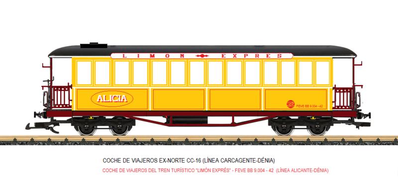 Construcció dels cotxes de viatgers Carcaixent-Dénia (Limón Exprès) a partir de vagons LGB Coche_14