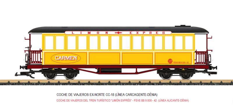 Construcció dels cotxes de viatgers Carcaixent-Dénia (Limón Exprès) a partir de vagons LGB Coche_15