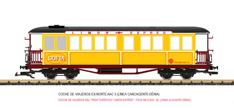 Construcció dels cotxes de viatgers Carcaixent-Dénia (Limón Exprès) a partir de vagons LGB Coche_16