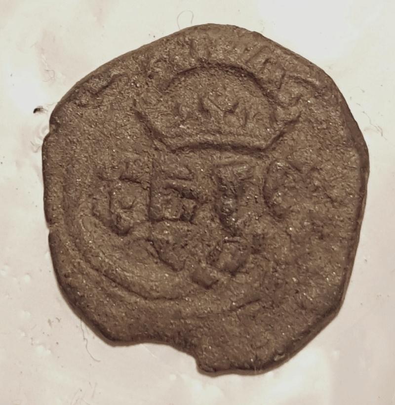 8 maravedís de Felipe III o IV, de Segovia, resellados. 20180137