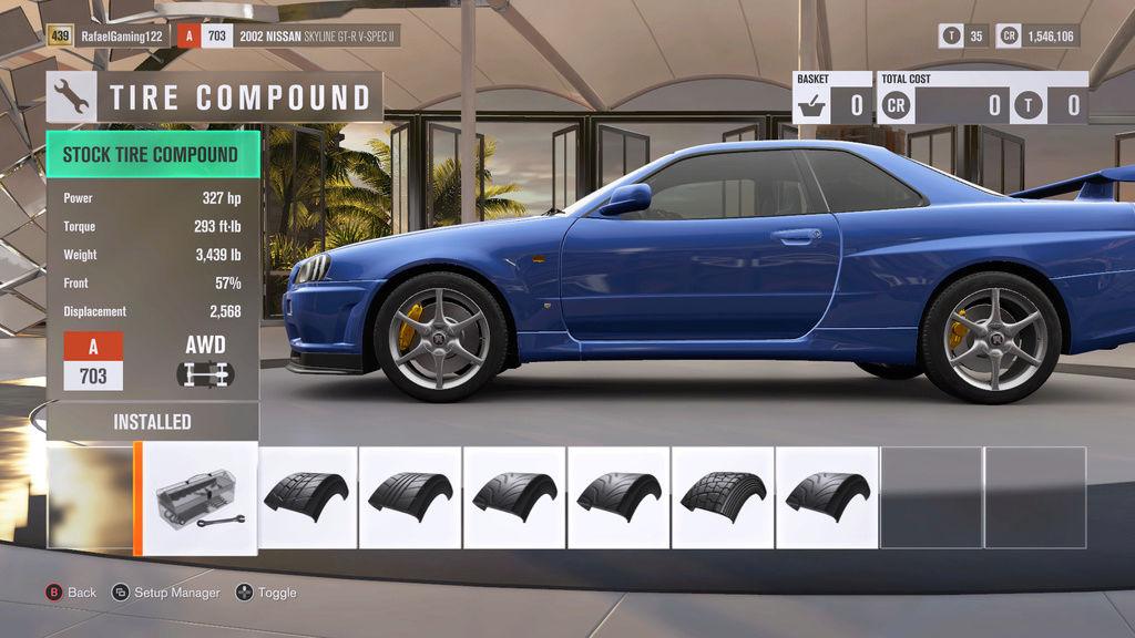 FH3 Time Attack | Stock Car Challenge #29 (2002 Nissan Skyline GT-R V-Spec II) R34_sp10