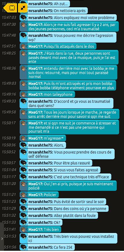 [CHU] Rapports d'action RP de mrsarahthe75 210