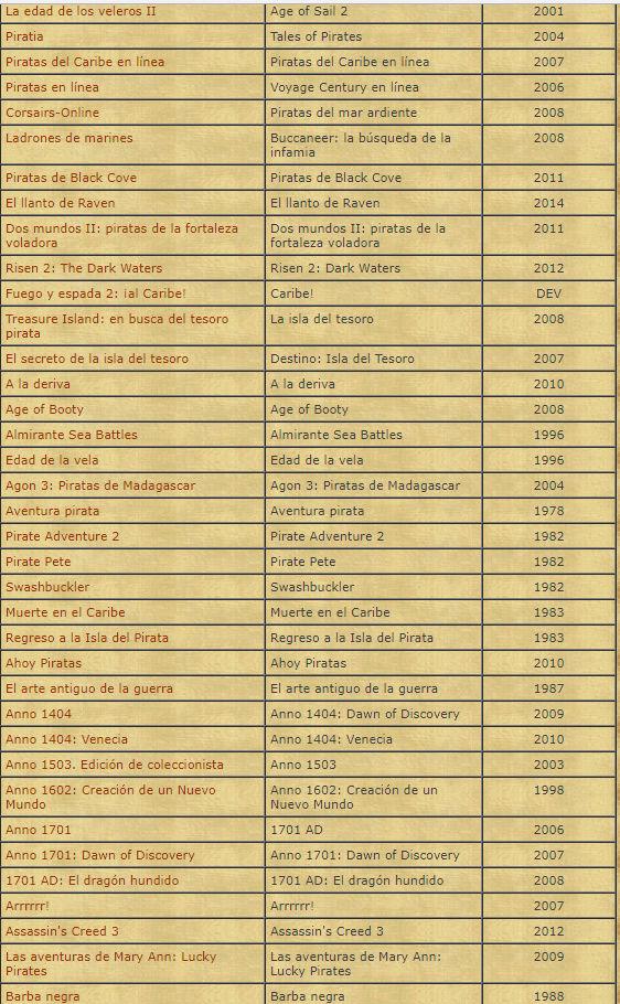 TODOS LOS JUEGOS DE PIRATAS EXISTENTES 316