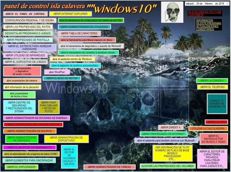 isla calavera nuevo panel de control windows 10/8/7 Isla_c10