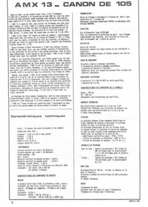AMX 13 canon de 105 1/35ème Réf L 781 13-10510