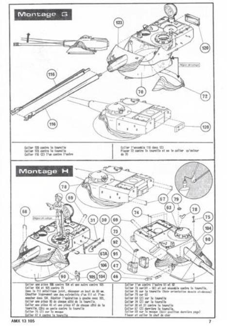 AMX 13 canon de 105 1/35ème Réf L 781 13-10516