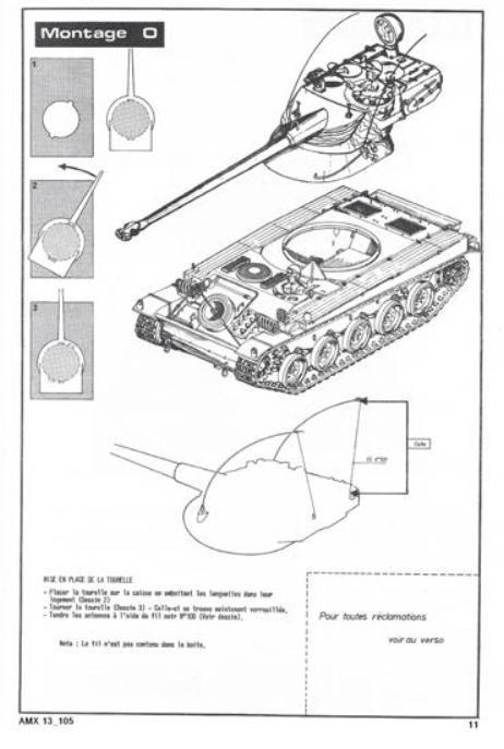 AMX 13 canon de 105 1/35ème Réf L 781 13-10517