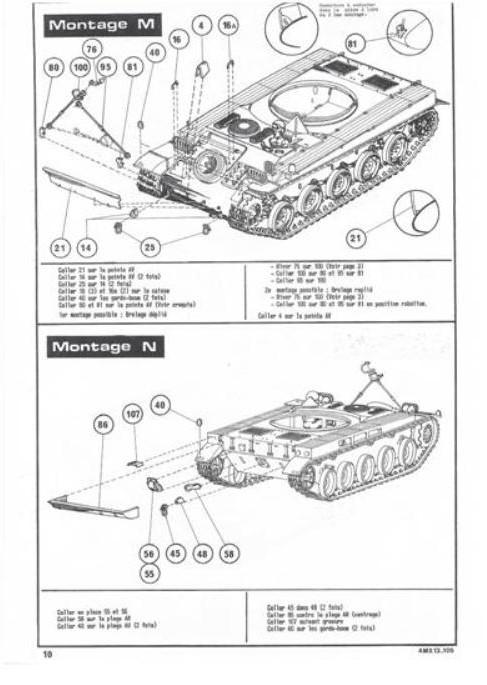 AMX 13 canon de 105 1/35ème Réf L 781 13-10518