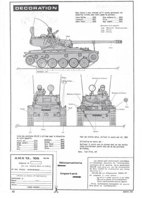 AMX 13 canon de 105 1/35ème Réf L 781 13-10521