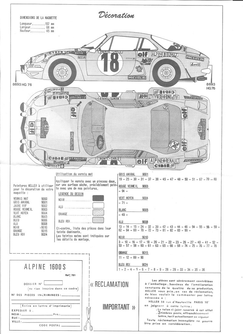 ALPINE 1600 S - 1/24 - REFERENCE : L761 - NOTICE  Alpine18