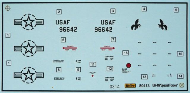 BELL UH-1N IROQUOIS 1/48ème Réf 80413 Uh-1n818