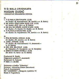 Hasan Dudic - Diskografija 1984_k14