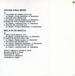 Nihad Kantic Sike - Diskografija  1986_k16