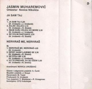 Jasmin Muharemovic - Diskografija 1987_k12