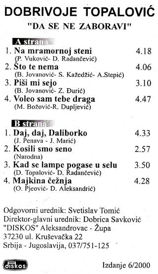 Dobrivoje Topalovic - Diskografija  - Page 2 2000_z15