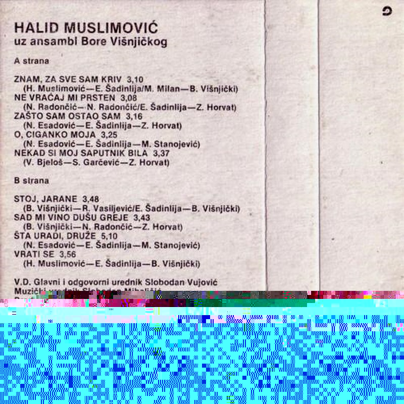 Halid Muslimovic - Diskografija Kaseta13