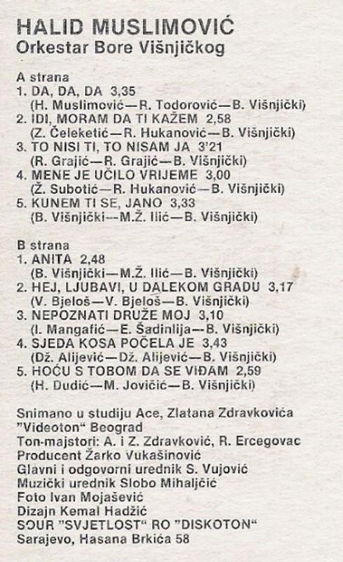 Halid Muslimovic - Diskografija Kaseta15
