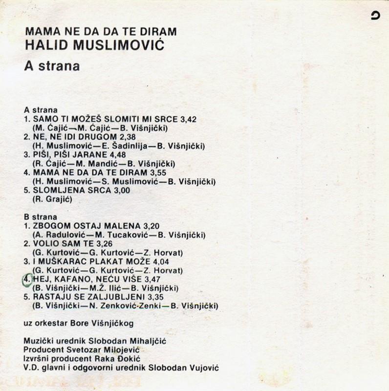 Halid Muslimovic - Diskografija Kaseta21
