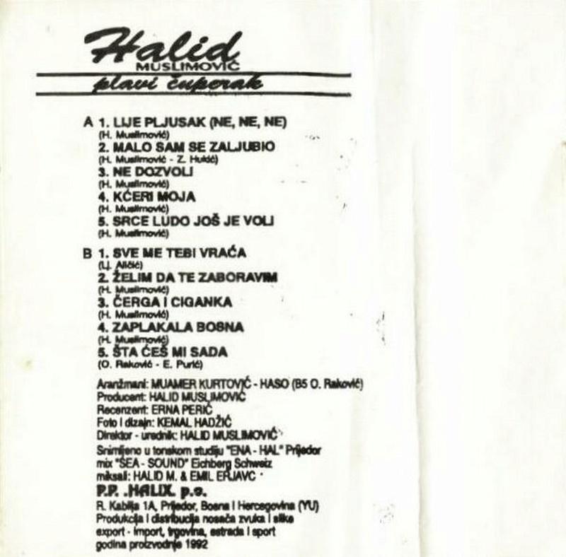 Halid Muslimovic - Diskografija Kaseta27