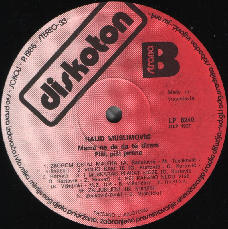 Halid Muslimovic - Diskografija Ploca_21