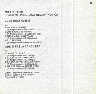 Milan Babic - Diskografija 2 R-107644