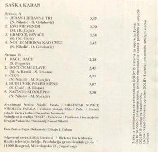 Saska Karan - Diskografija  R-111810
