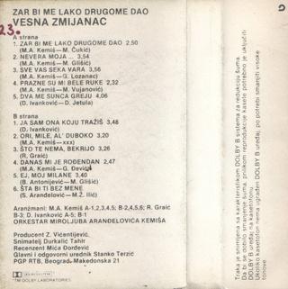 Vesna Zmijanac - Diskografija R-114612