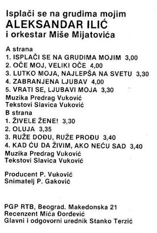 Aleksandar Aca Ilic - Diskografija  R-169211