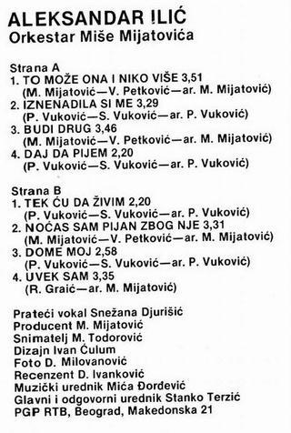 Aleksandar Aca Ilic - Diskografija  R-169216