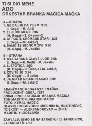 Ado Gegaj - Diskografija  R-169614