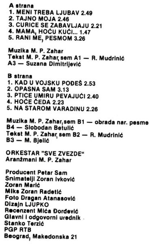 Gordana Lazarevic - Diskografija R-170114