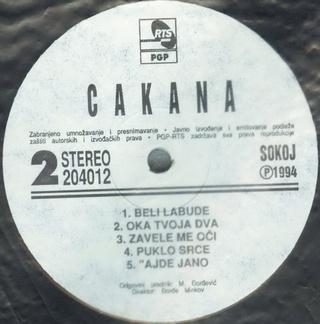 Cakana - Dragica Radosavljevic - Diskografija  R-197012