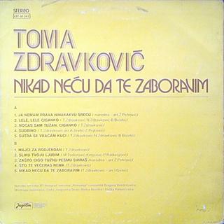 Toma Zdravkovic - Diskografija R-197513
