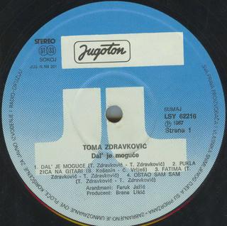 Toma Zdravkovic - Diskografija R-197539