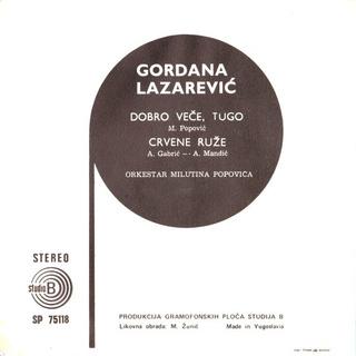 Gordana Lazarevic - Diskografija R-198612