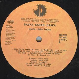 Saska Karan - Diskografija  R-204513