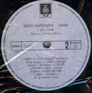 Cakana - Dragica Radosavljevic - Diskografija  R-204517