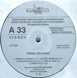 Vesna Zmijanac - Diskografija R-205010