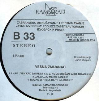 Vesna Zmijanac - Diskografija R-205011