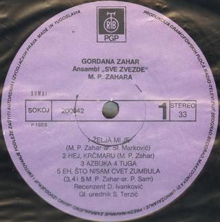 Gordana Lazarevic - Diskografija R-207410
