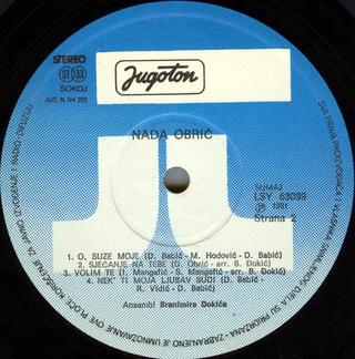 Nada Obric - Diskografija  R-212015