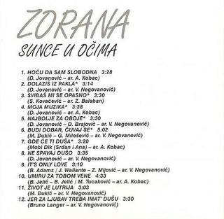 Zorana Pavic - Diskografija  R-220617
