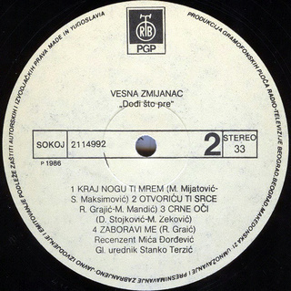 Vesna Zmijanac - Diskografija R-220715
