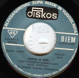 Rade Vuckovic - Diskografija  R-232012
