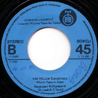 Gordana Lazarevic - Diskografija R-305012