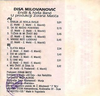 Radisa Disa Milovanovic - Diskografija  R-331711